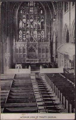 Xom  New York Ny  Interior View Of Trinity Church
