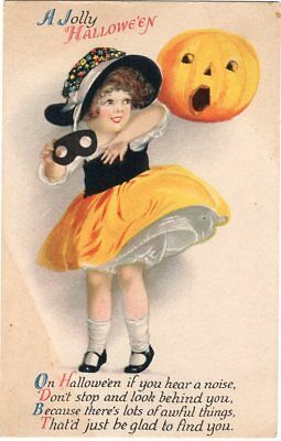 HALLOWEEN POSTCARD, ARTIST - ELLEN CLAPSADDLE, SERIES 31 WOLF & Co., c1915 - Ellen Clapsaddle Halloween Postcards