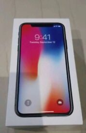 Apple iPhone X 64GB Space Grey brand new in box Factory unlocked with warranty proof of receipt
