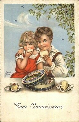 Child Eat Cheese - Swiss Gruyere Chalet Cheese Tin Emaison Kurt Postcard ()