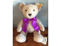 Steiff Year Bear 2016 Beige Teddy Soft Plush Anniversary Baby Birthday