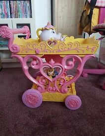 Beauty and the beast belle musical tea trolley