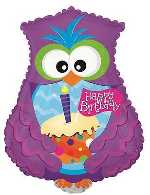 HAPPY BIRTHDAY OWL & CUPCAKE SHAPED THEMED PARTY 23
