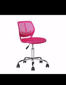 Pink Meah Swirl Lumbar support chair