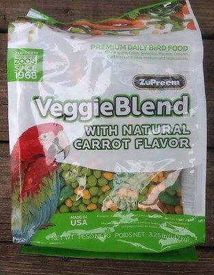 ZuPreem Veggie Blend Avian diet bird parrot food cockatoo veggieblend 3.25lb