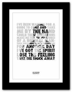 JOY-DIVISION-Disorder-lyric-typography-poster-art-print-A1-A2-A3-or-A4