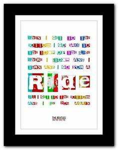 THE-BEATLES-Helter-Skelter-song-lyrics-typography-poster-art-print-A1-A2-A3