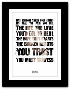 FOO-FIGHTERS-Best-Of-You-lyric-typography-poster-art-print-A1-A2-A3-or-A4