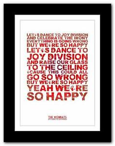 THE-WOMBATS-Lets-Dance-To-Joy-Division-poster-art-print-A1-A2-A3-or-A4