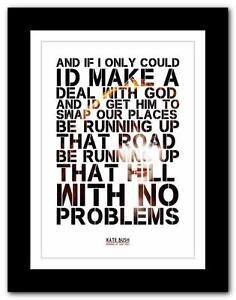 KATE-BUSH-Running-Up-That-Hill-song-lyrics-poster-art-print-A1-A2-A3-A4