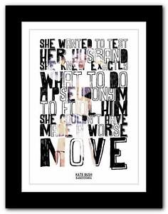 KATE-BUSH-Babooshka-song-lyrics-typography-poster-art-print-A1-A2-A3-or-A4