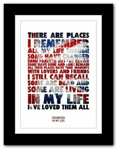 THE-BEATLES-In-My-Life-song-lyrics-typography-poster-art-print-A1-A2-A3-A4