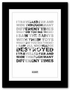 JOY-DIVISION-Wilderness-lyric-typography-poster-art-print-A1-A2-A3-or-A4