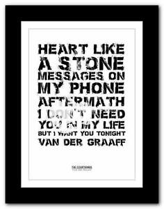 THE-COURTEENERS-Van-Der-Graaff-song-words-art-poster-print-A1-A2-A3-or-A4