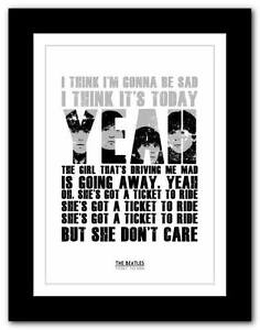 THE-BEATLES-Ticket-To-Ride-song-lyrics-typography-poster-art-print-A1-A2