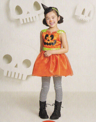 Darling Girl's Pumpkin Dress Toddler Costume & Cap - Size 4-5T 32-42 lbs - New](Pumpkin Costume Toddler Girl)