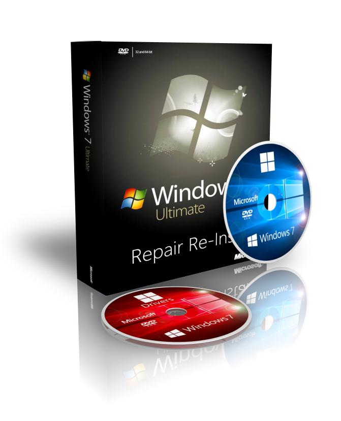 Deutsch Windows 7 Ultimate 32 Repair Recovery Disk + Drivers + ISO Download