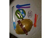 Ninja turtles costume and accessories