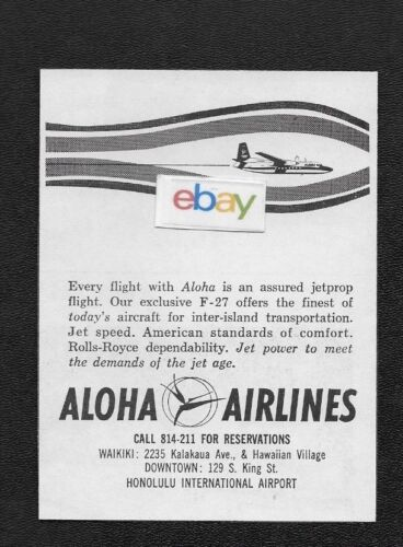 ALOHA AIRLINES 1963 FAIRCHILD F-27