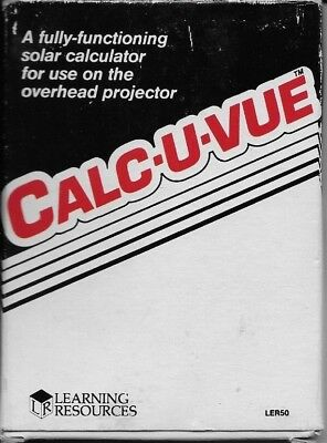 Calc-U-Vue Overhead Solar Calculator CIB (LER50, Learning Resources)