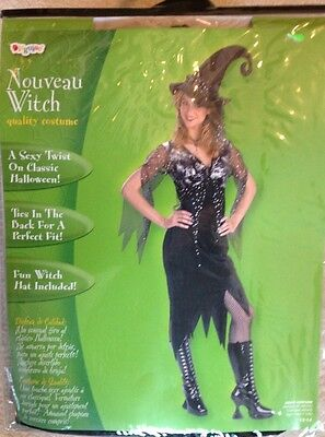 Witch Adult Womens Costume - NWT Nouveau Witch Adult Women's Costume By Disguise Sz 12-14 Halloween