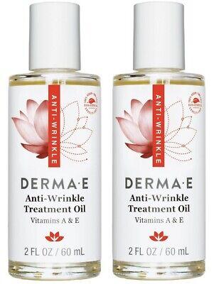 Derma E Anti-Wrinkle Treatment Oil with A&E **2 PACK** 4 fl oz total, EXP - Derma Treatment