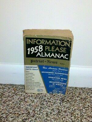Rare Information Please 1958 Almanac Patriot News Edition