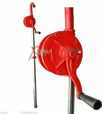 Heavy Duty 55 Gallon Drum Rotary Hand Pump Oil Fuel Barrel Transfer Dispenser
