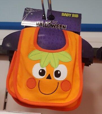 HALLOWEEN BABY PUMPKIN SMILEY BABY CHILD BIB FANCY PARTY DRESS FUNKY GIFT - Smiley Baby Kostüm
