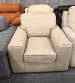 Beige fabric Armchair