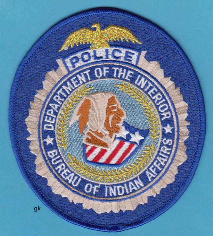 DEPTARTMENT OF THE INTERIOR BUREAU INDIAN AFFAIRS TRIBAL POLICE SHOULDER PATCH