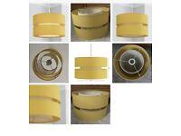 Dunelm Frea 30cm Drum Ochre Yellow Lamp Shade