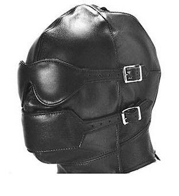 Echt Leder maske Masque en Cuir leather mask ledermaske