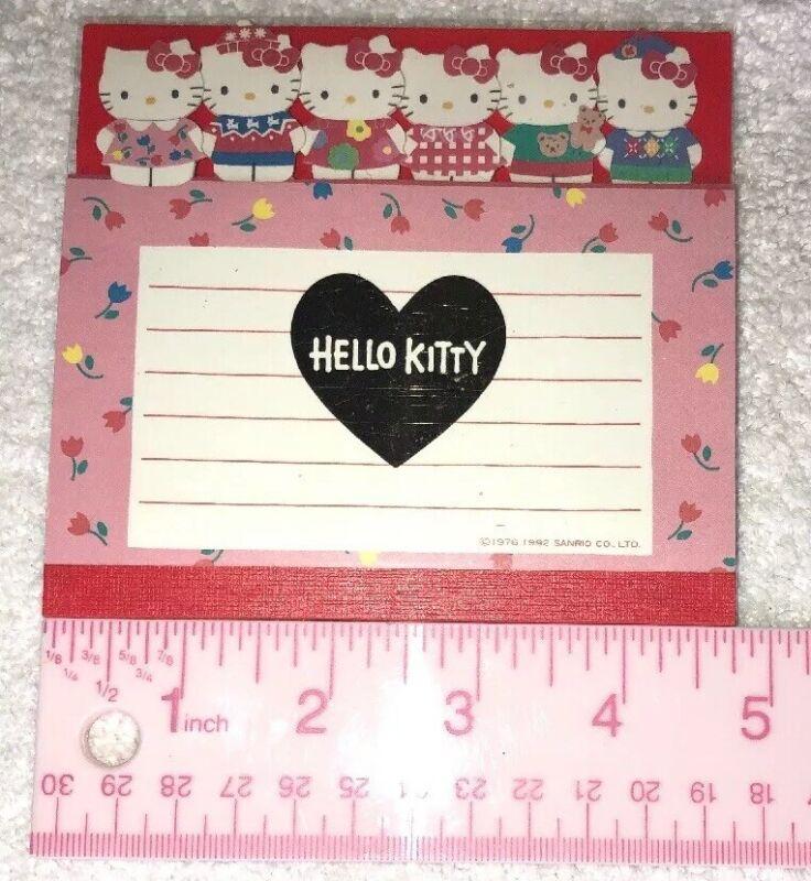 1976, 1992 Sanrio Vintage Hello Kitty 48 Sheets Notepad Tabbed