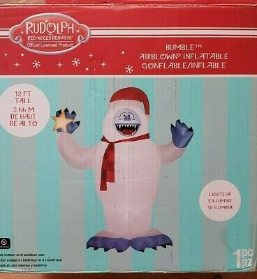 Gemmy 12ft Colossal Bumble with Santa Hat Christmas Inflatable