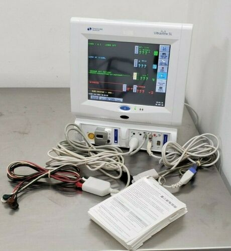 Spacelabs Model 91369 Ultraview SL Color Patient Monitor w/ Printer & Cables