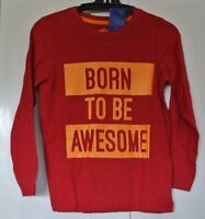 100% Cotton Long Sleeve Top Dark Red Age 2-3 -  - ebay.co.uk