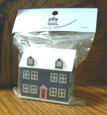 1/12th + 1/144 scale Miniature Blue Gray Plastic Dollhouse for your Dolls House