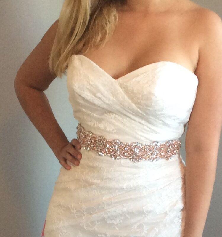 Rose Gold Bridal Sash. Rose Gold Sash. Gold Sash, Gold Belt Gold Crystal Belt