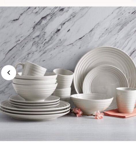 Pfalzgraff Sophia 16 Pc Dinnerware Set Round Stoneware
