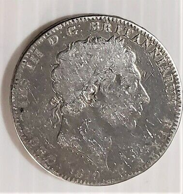 UK Great Britain 1819 .925 Silver Crown Coin KM 675