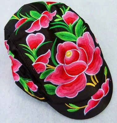 Unisex embroidered tribal vintage BOHO Ponytail Flat Cabbie Cap Gatsby (Gatsby Style Male)
