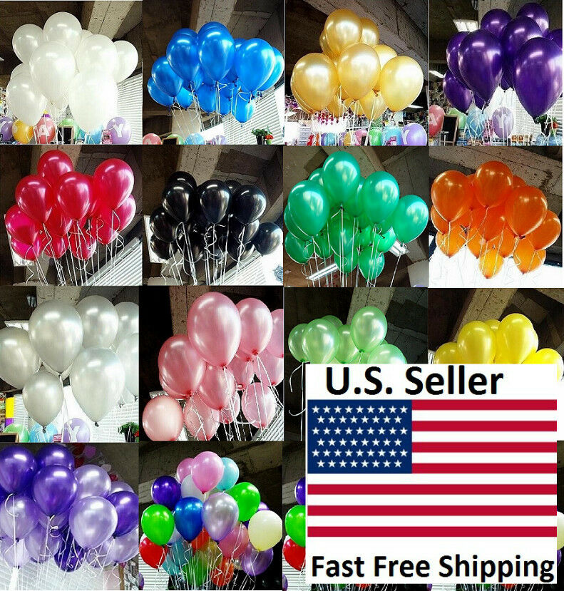 100pcs 10 inch colorful Pearl Latex Thickening Wedding Party