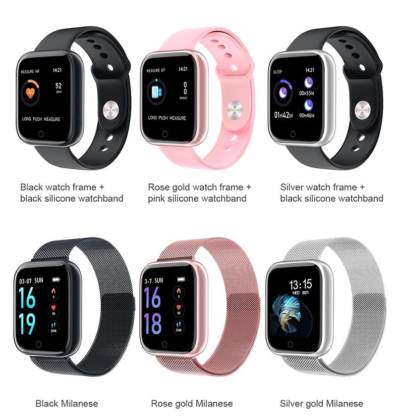 T80 Smart Watch Heart Rate  Monitor Fitness Tracker Smart Br