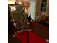 2 Hour Selfie Mirror Photobooth Hire Service with Unlimited Instant Photo Prints + Props