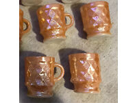 x4 Vintage Anchor Hocking pearlescent cups
