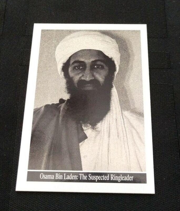 Rare Osama Bin Laden 9/11 Topps World Trade Center Card 2001 Enduring Freedom