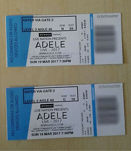 Adele Concert 19/03 Melbourne Etihad Stadium Reserved B Seats Burwood East Whitehorse Area Preview