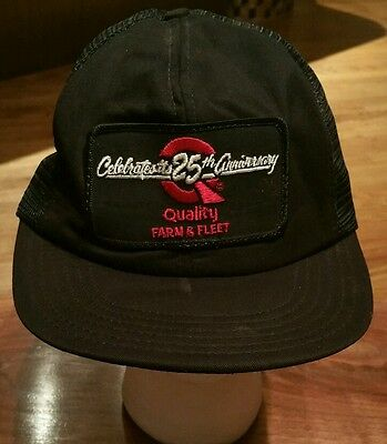 Quality Farm   Fleet Snapback Cap Trucker Hat 25Th Anniversary Patch Fishing