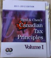 Canadian Tax Principles Vol I&II \w Study Guide 2011-12 Editions